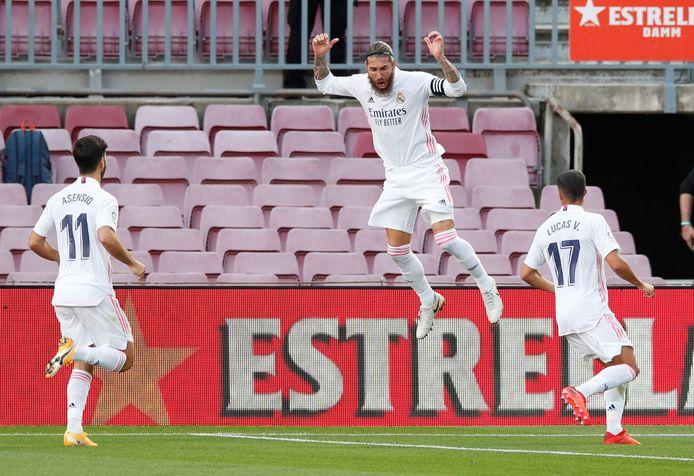 Ramos viert z'n goal.