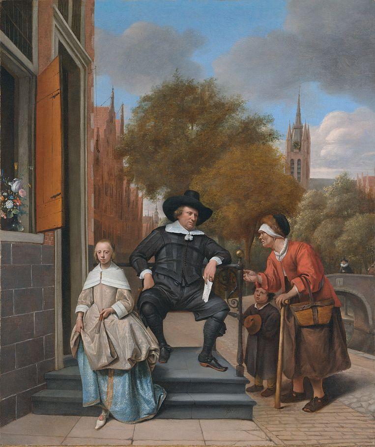 Portret van een welgesteld paar door Jan Steen. Beeld Rijksmuseum Amsterdam