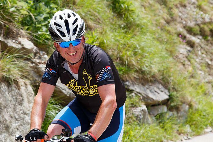 Marc van der Locht fietste al 50.000 euro bij elkaar voor Alpe d'HuZes.