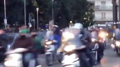 Napoli-fans bezorgen vanop scooters Juventus een hels onthaal