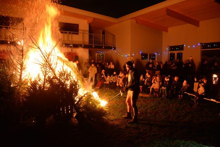 Bij Chiro Kallo is de kerstboomverbranding een jaarlijkse traditie.