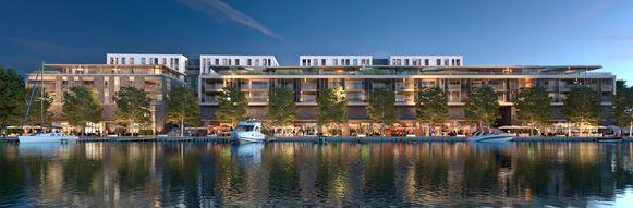 """""""Binnenkort kunnen onze klanten zelfs aanmeren met de boot aan de Quartier Bleu-kade"""", zegt Roel Dekelver van Delhaize."""