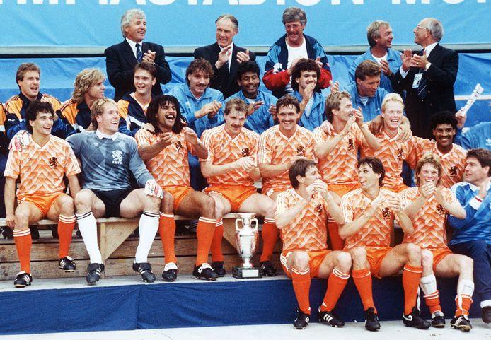 ,,Een goed stel'', zei Theo Reitsma bij de huldiging van Europees kampioen Oranje.