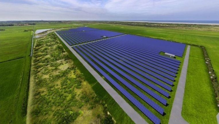 Zonnepark Ameland was drie jaar geleden nog de grootste zonneweide van Nederland. Beeld Zonnepark Ameland