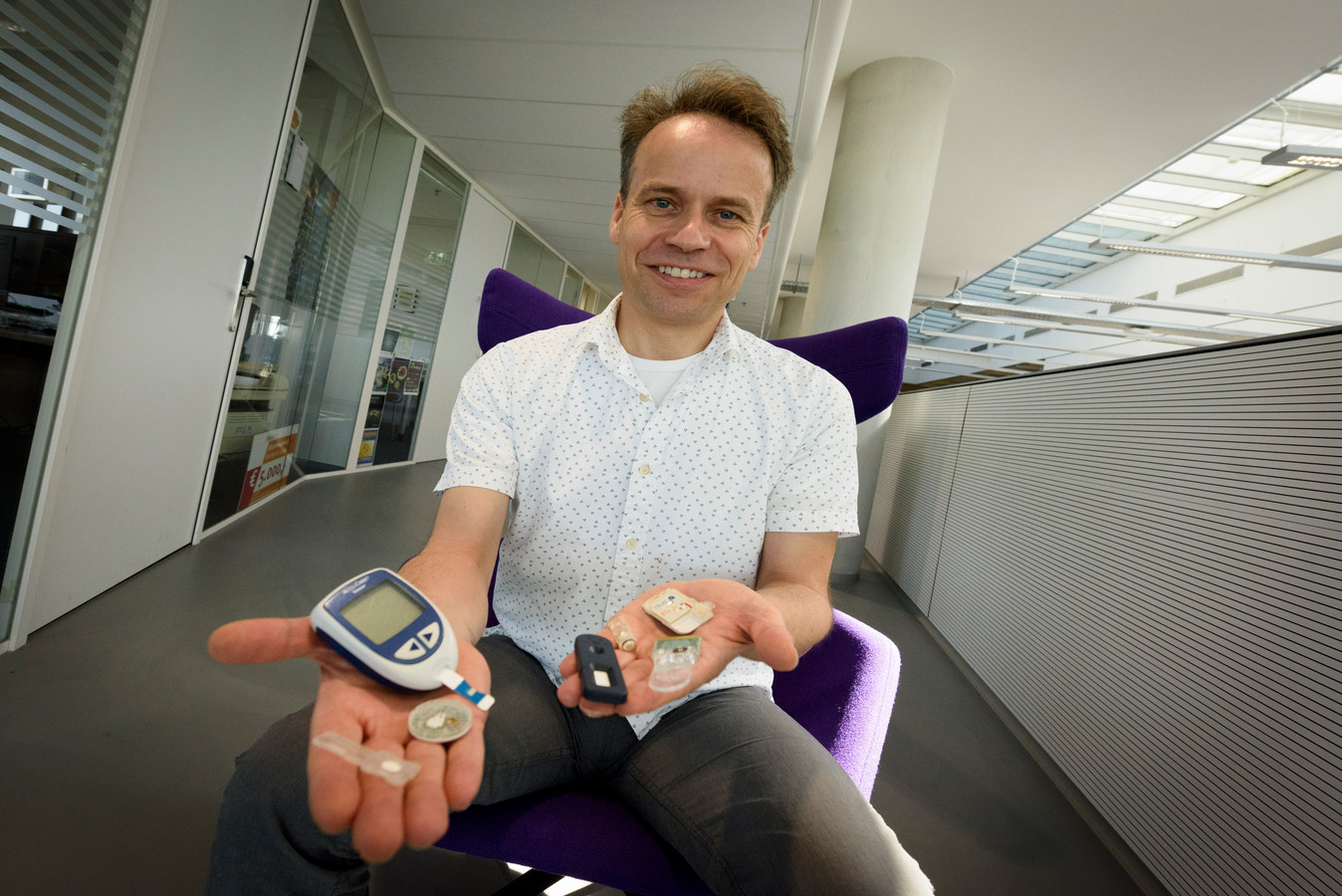 Menno Prins is initiator van de ontwerpwedstrijd op de TU/e voor een werkend prototype sensor.