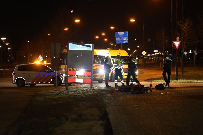 Motorrijder gewond in Veghel.