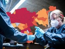 KAART   Vijf coronadoden; Gelderland kleurt donkerrood door besmettingen