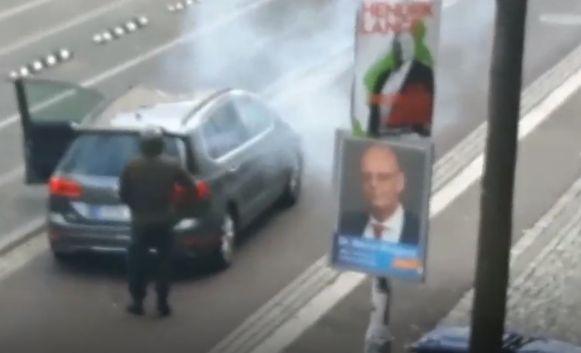 Beeld vermoedelijke dader schietpartij in het Duitse Halle