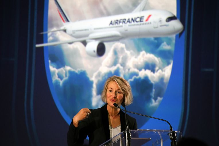 Air France-topvrouw Anne Rigail. Beeld AFP