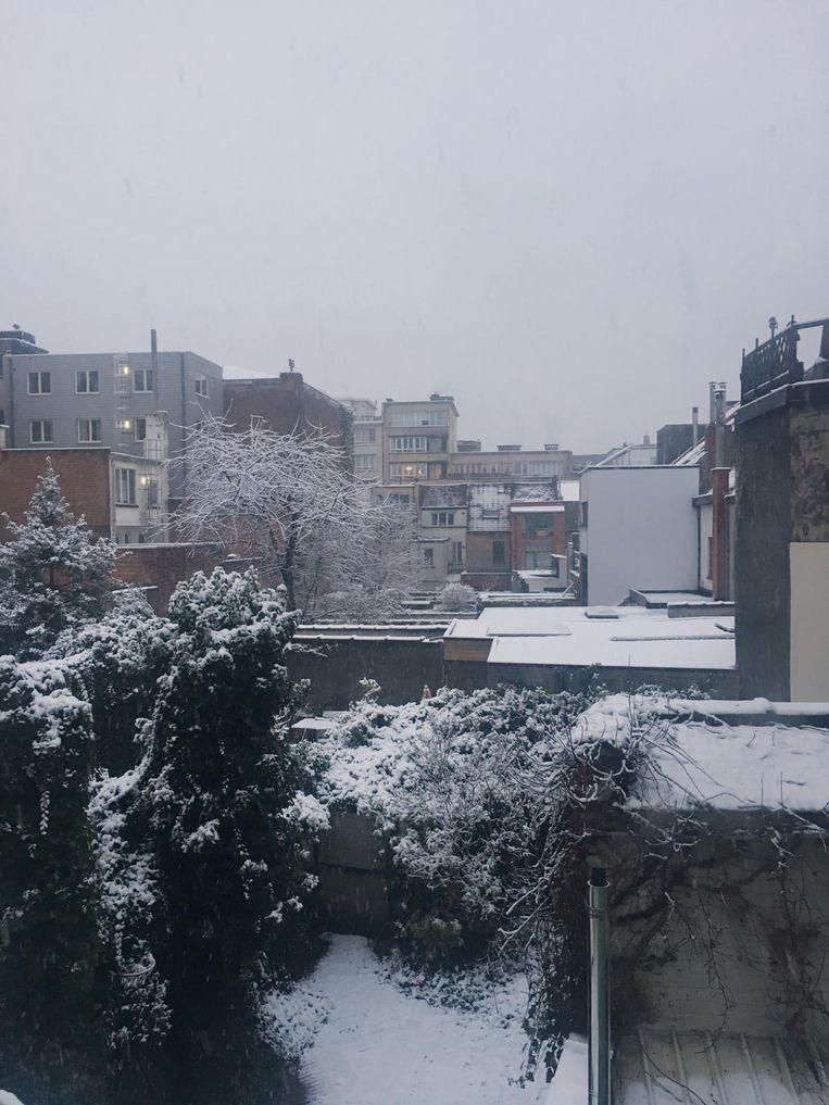 De sneeuw in Gent.