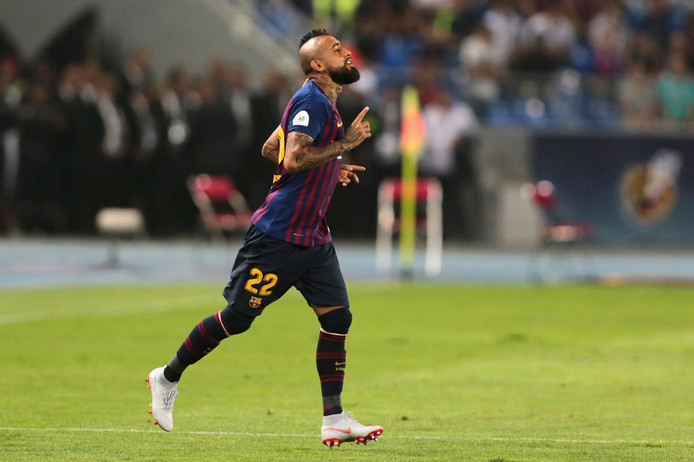 FC Barcelona-debutant Arturo Vidal.