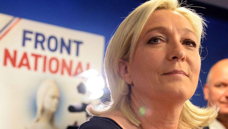 Het Front National van Marine Le Pen zou volgens de exitpolls een historische zege boeken.