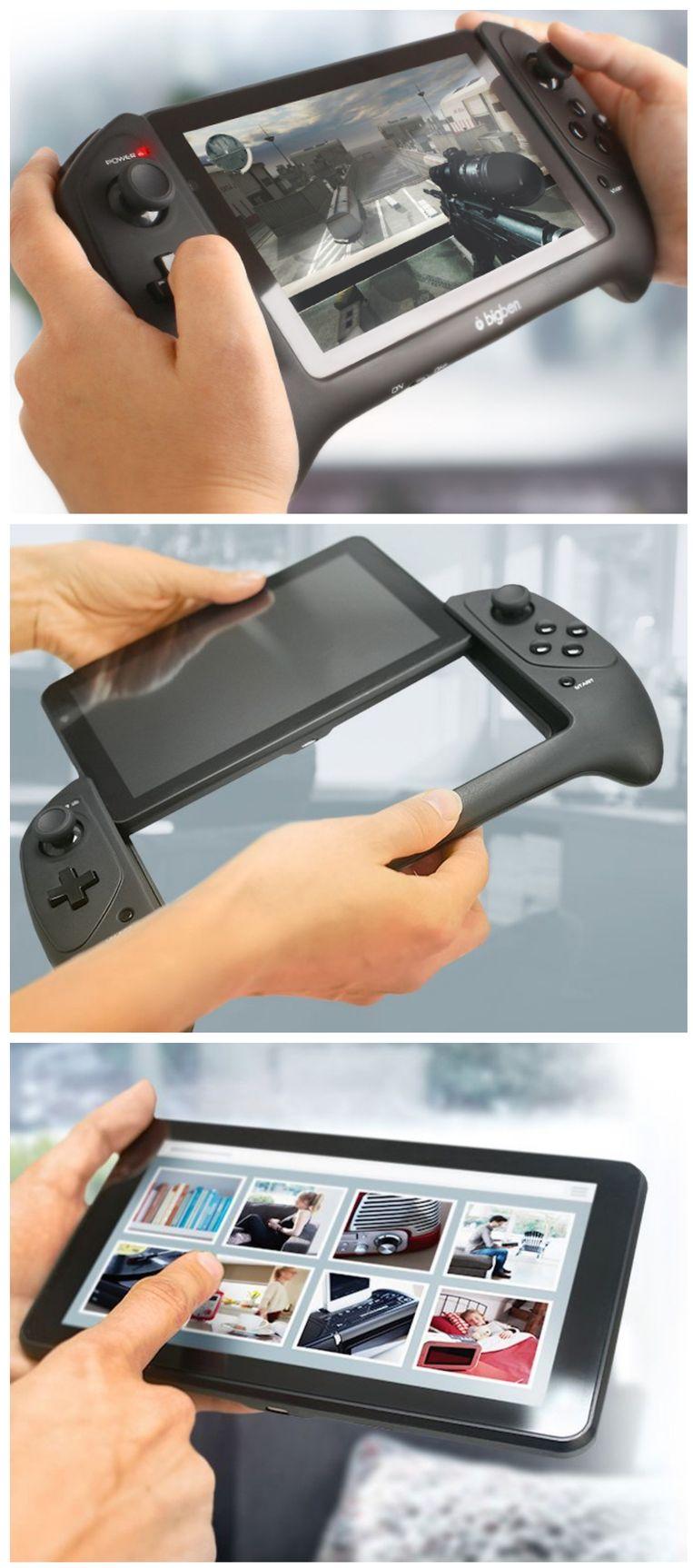Zo verandert de GameTab-One in een tablet. Beeld BigBen