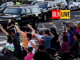 """Campagneleider Trump: """"Sta paraat voor protestacties"""" - Trump rijdt met konvooi voorbij feestende menigte"""