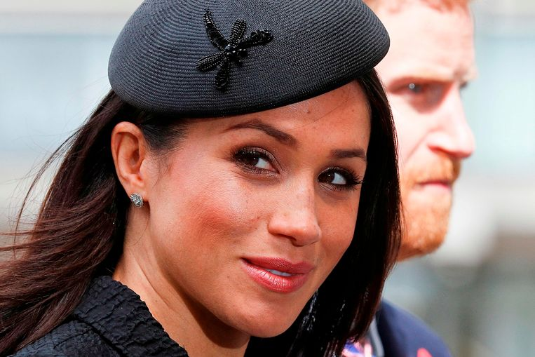 Foto van 25 april 2018  waarbij prins Harry en verloofde Meghan Markle een dienst bijwonen in Westminster Abbey in London.