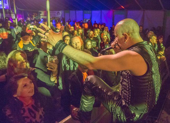 Archieffoto van een optreden van Silverwolf op Dijkrock.