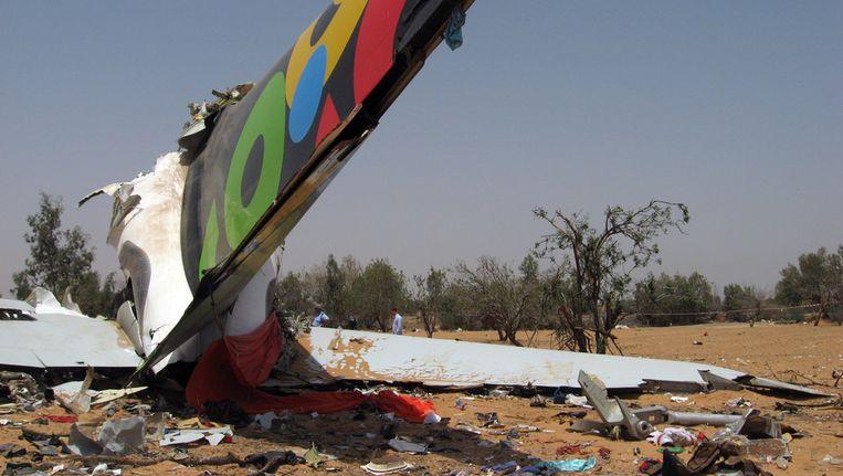 Brokstukken van het neergestortte vliegtuig, twee jaar g Beeld ANP