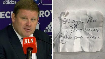 """VIDEO - Het briefje van Hein voor Chipciu: """"Want als je roept, gaat er al eens iets verloren"""""""