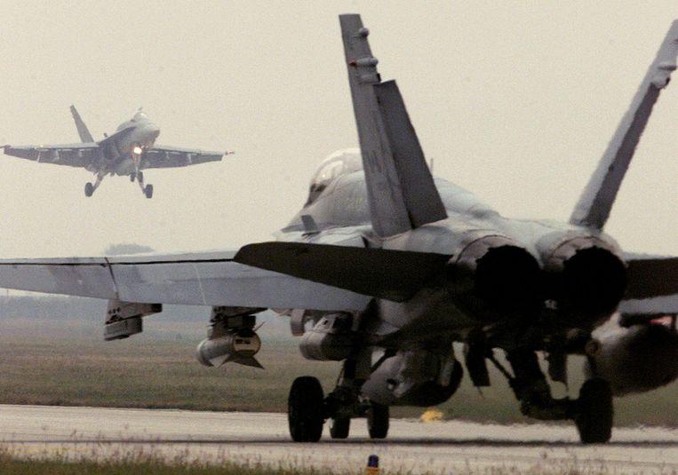 Een Canadese F-18 op een archieffoto.