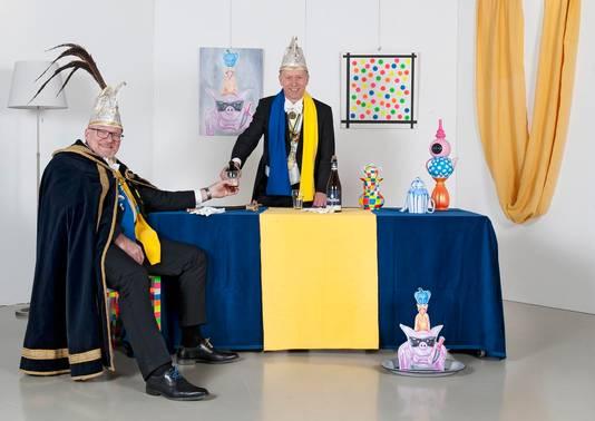 Foto van Prins Arno II en zijn Adjudant Twan.