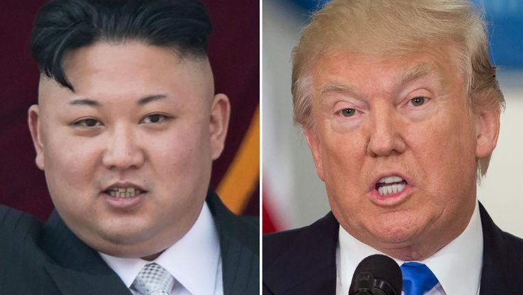 Kim Jong-Un (Noord Korea) en Donald Trump (Verenigde Staten van Amerika) Beeld afp