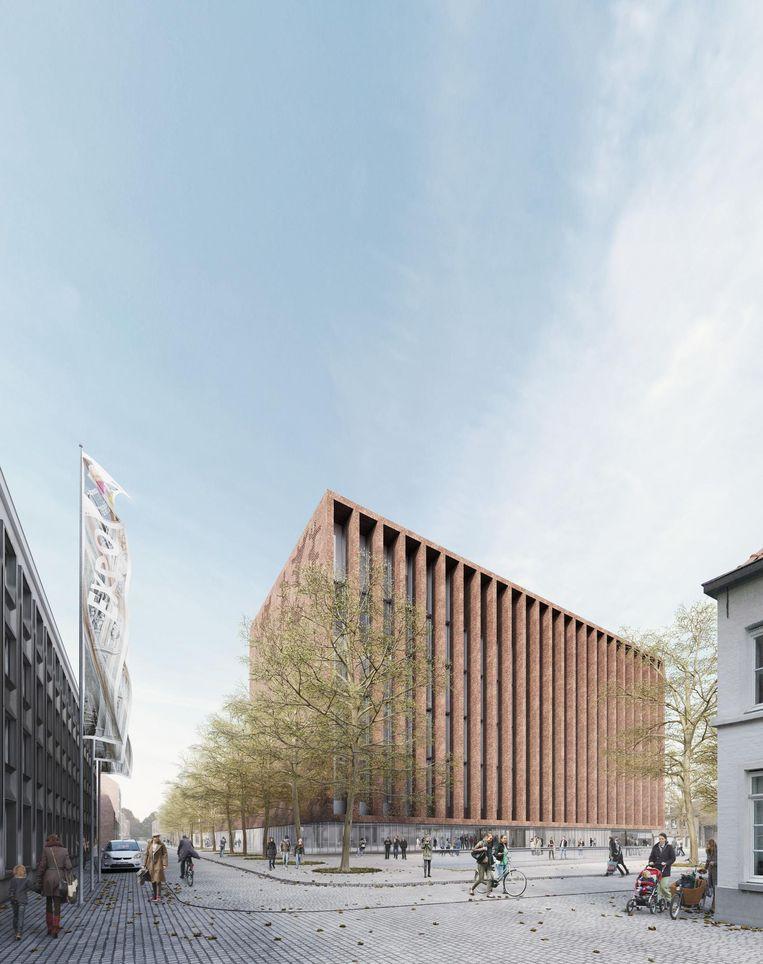 De nieuwe Beurs- en Congreshal zal 31 meter hoog zijn.