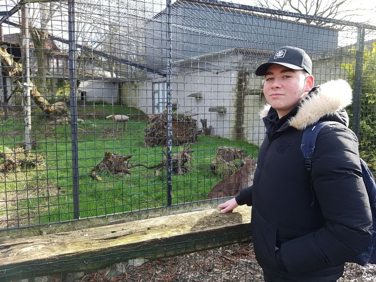 Xander Robbe ontwierp een houten diertje dat de geur van een geit draagt.