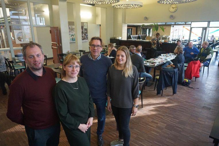 David Meert, Laurence Van Cauter, Stefaan Tanghe en Annelies Devreese in het CultuurCafé.