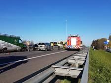 A59 bij Waalwijk weer vrijgegeven na groot ongeluk