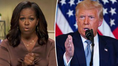 "Trump slaat hard terug na speech Michelle Obama: ""Ze zaait verdeeldheid"""
