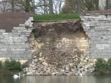 Historische stadsmuur in Maastricht ingestort