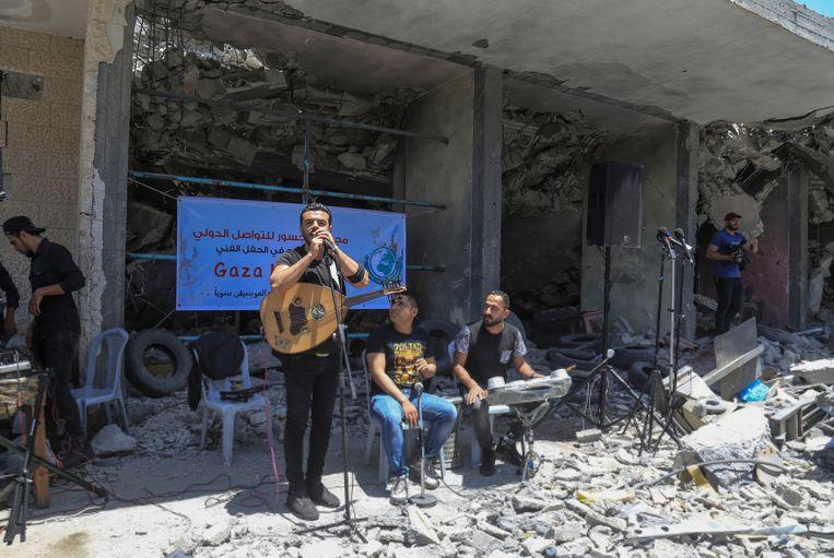 De Palestijnse band 'Dawaween' nam deel aan het concert.