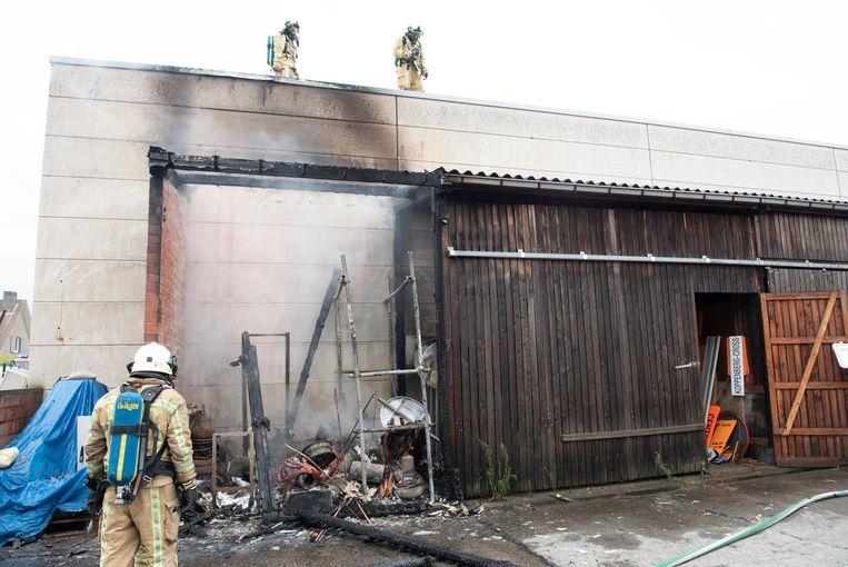 De korte brand bracht heel wat schade toe.