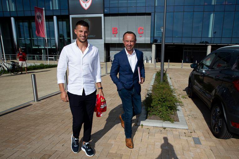 Kevin Mirallas met zijn begeleider Christophe Cheniaux.