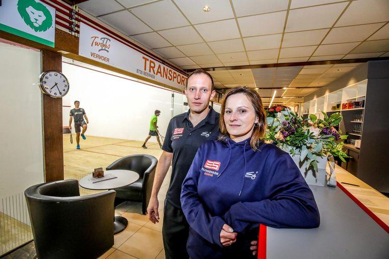 Cindy Lippens en Koen Devenins noemen de nieuwe zaak Elite Squash