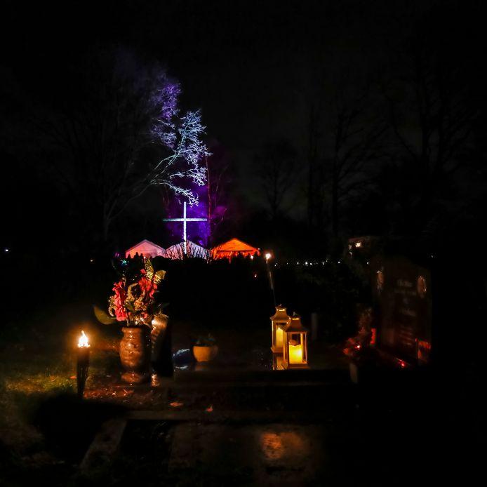 Lichtjesavond op de begraafplaats in Etten-Leur, hier op archiefffoto.