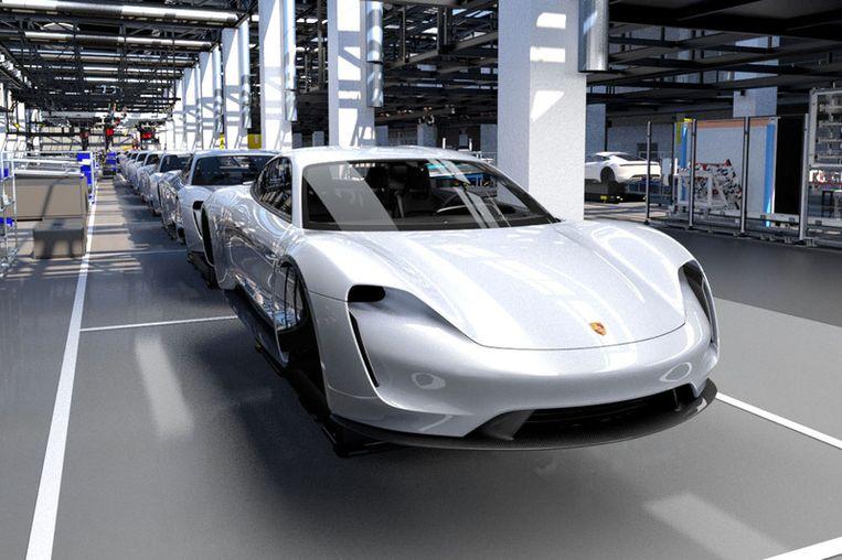 De elektrische Porsche Taycan