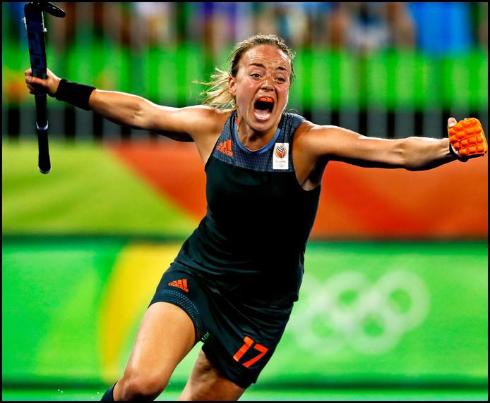 Maartje Paumen tijdens de Olympische Spelen in Rio de Janeiro.