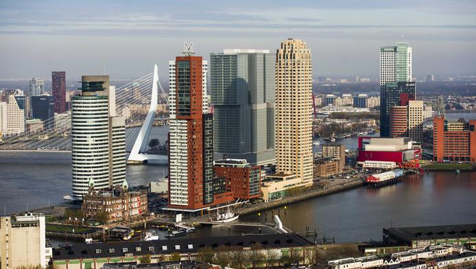 De Kop van Zuid in Rotterdam.