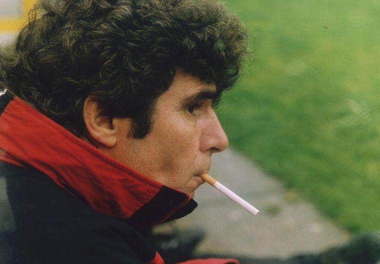 Van Hanegem in 1994 als trainer bij Feyenoord. Foto ANP/Paul Stolk Beeld