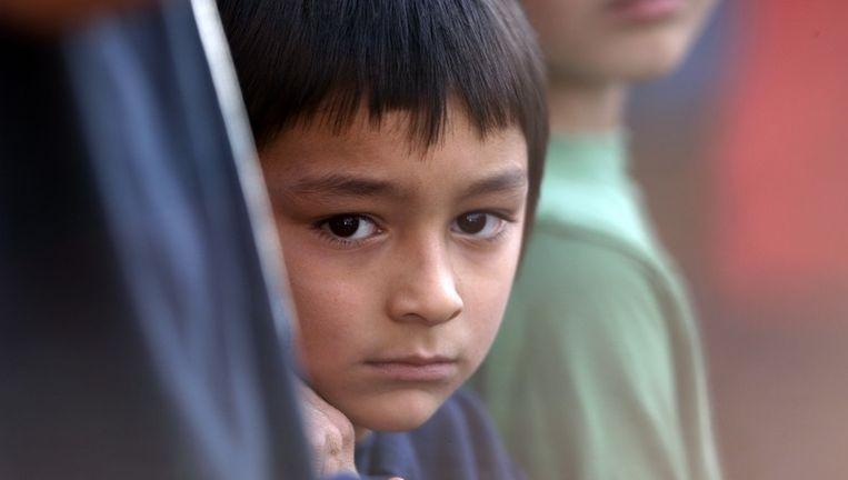 Het 6-jarige zoontje Falcon. Foto AP Beeld