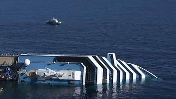 Le navire Costa Concordia a coulé le 13 janvier 2012.