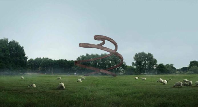 Het ontwerp Lus in het landschap kreeg de voorkeur van een krappe meerderheid van Tilburgers die hun stem uitbrachten.