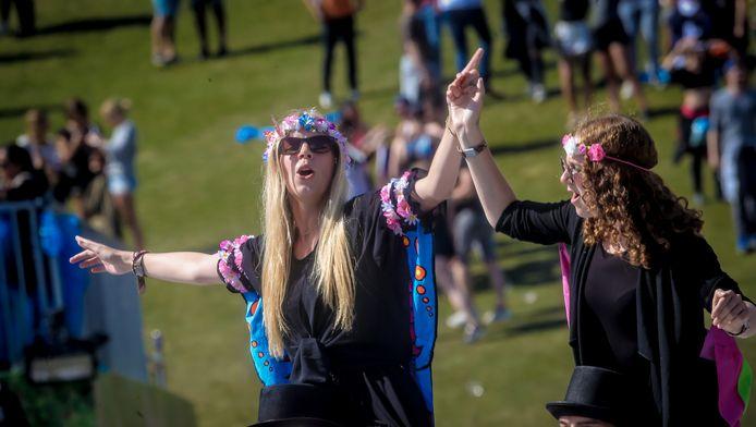Festivalgangers op Tomorrowland.
