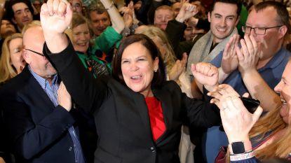 Ierse nationalisten van Sinn Féin willen linkse regering vormen, centrumrechtse partij sluit gesprekken niet langer uit