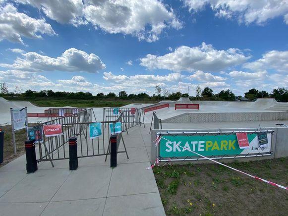 Het skatepark in Beringen.