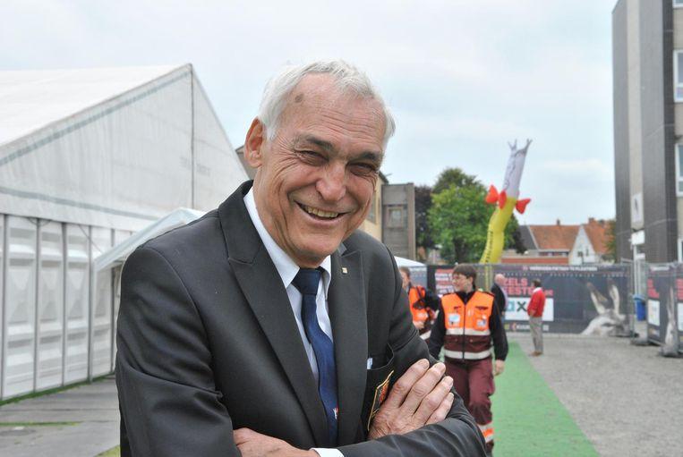 Een glunderende Jacques Neyrinck tijdens de Ezelsfeesten in oktober 2015.