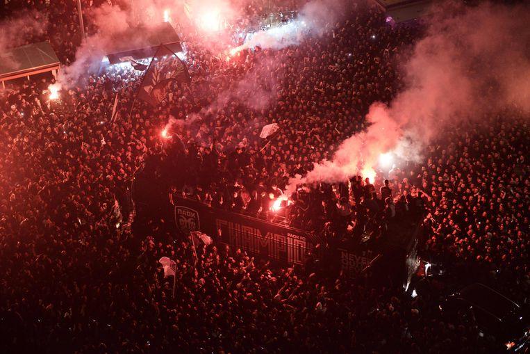 De viering van de titel van PAOK.