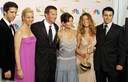 "Le casting complet de ""Friends"" aux Emmy Awards en 2002."