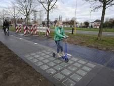 Nu ook zonnepanelen in fietspad Bovenbuurtweg in Ede